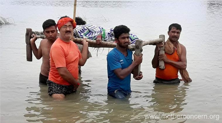 flood in bihar and assam | mother concern